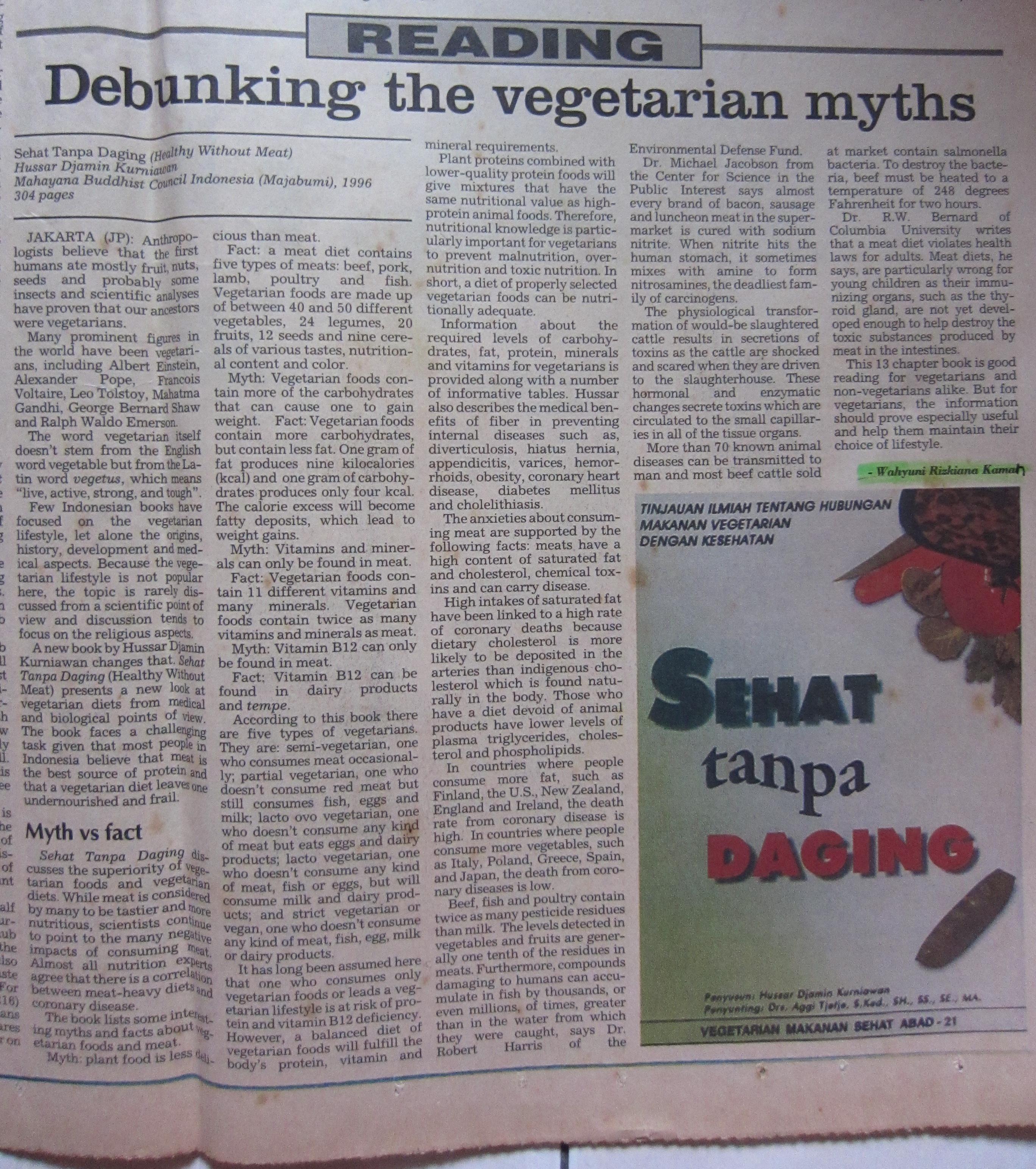 1996 Dec 15-The Jakarta Post, Debunking