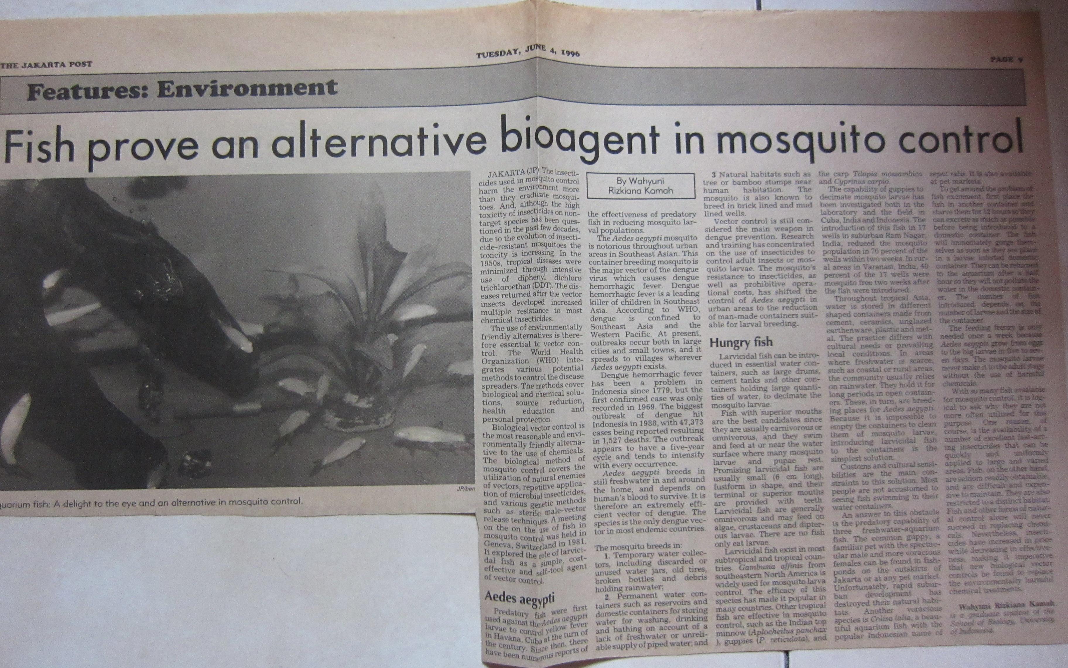 1996 June 6, The Jakarta Post, Fish proves